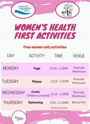 WHF Activities April 2019 time table